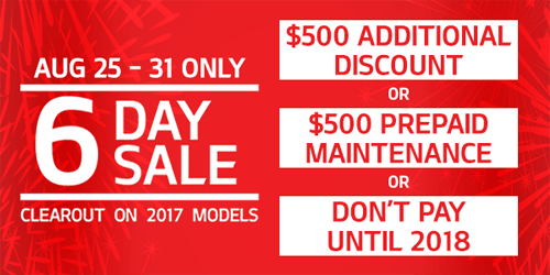 6 Day Clearout Sale