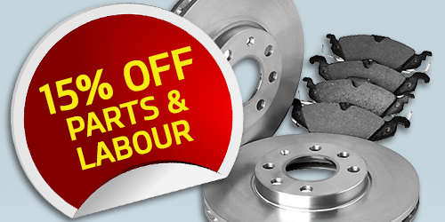15% off Parts and Labour